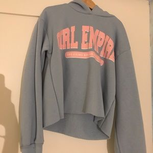 Forever 21 girl empire cropped hoodie